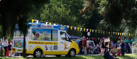 An ice cream van
