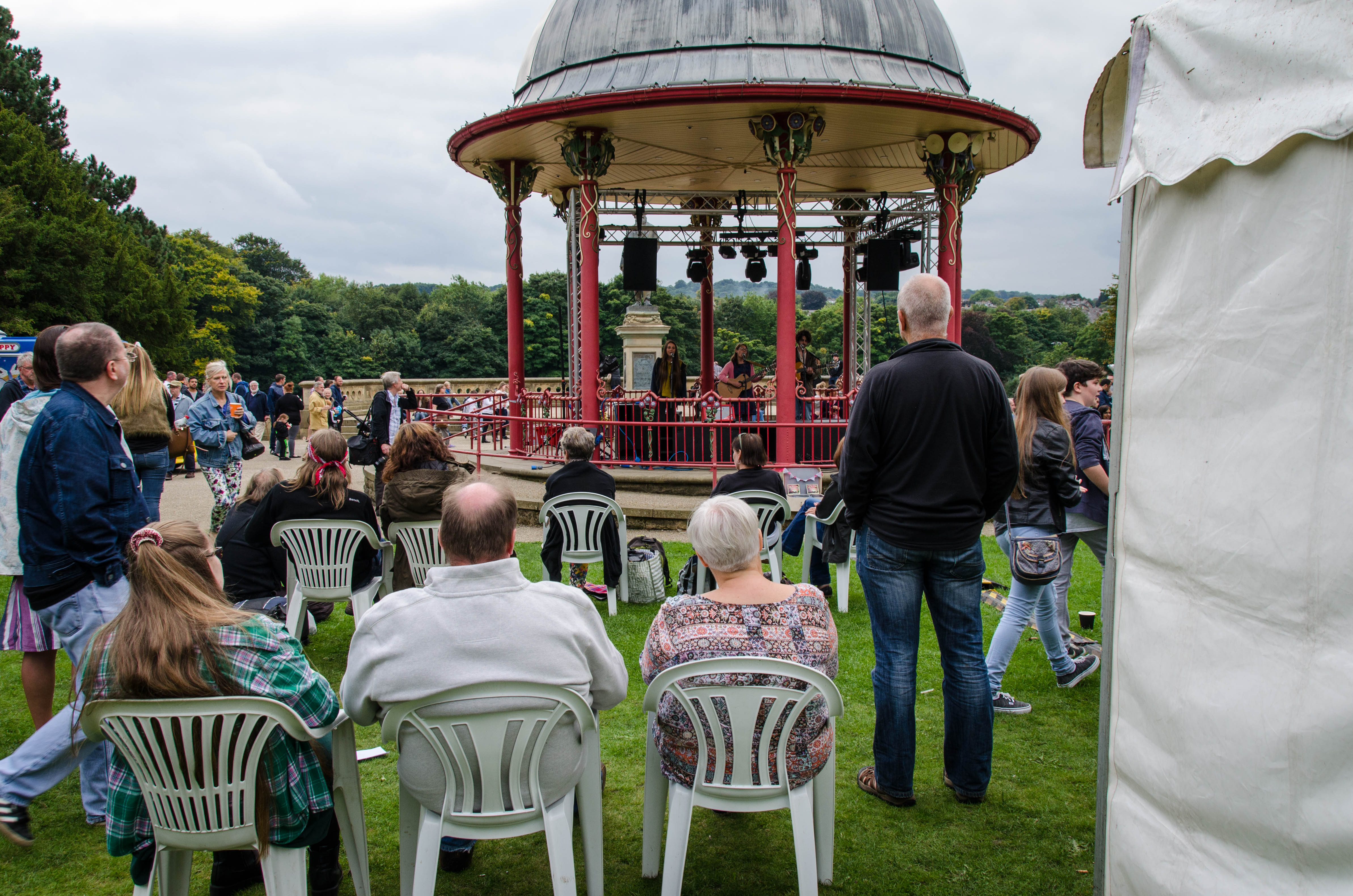 Roberts Park Band Stand During The Saltaire Festival