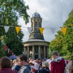 People visiting Saltaire Church During the Festival