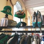 Hats and shows in the vintage fair.