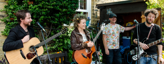 Live Music Open Garden Event During Saltaire Festival